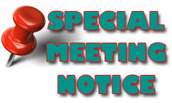 Special Meeting Notice for Adams County Tax Payers